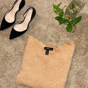 Forever 21 Tan Chenille Sweater